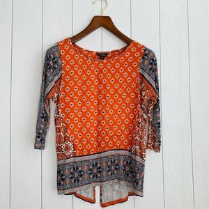 Lucky Brand Womens Size XS Orange Top
